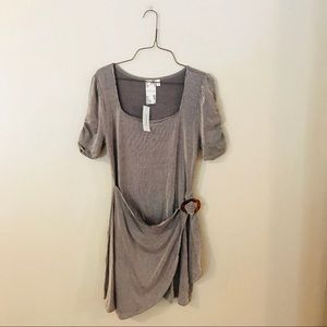 NWT Taupe and White Striped Dress